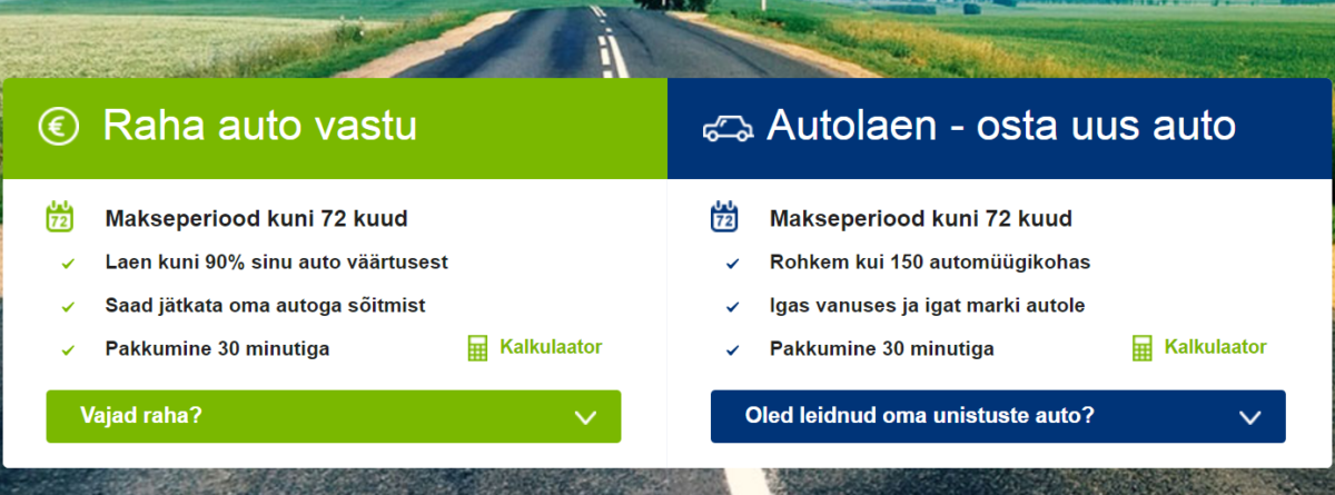 Mogo.ee laenud autoliisingud